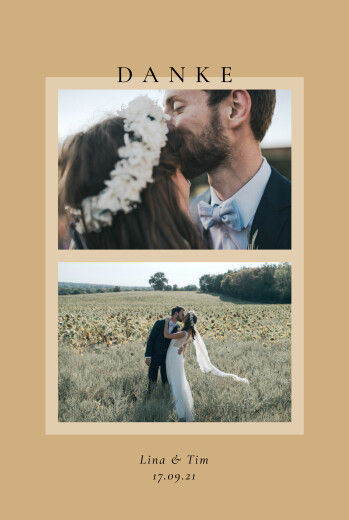 Dankeskarten Hochzeit Pastelltraum (2 fotos) orange