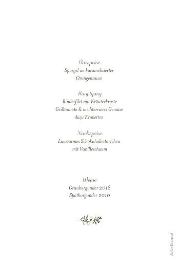 Menükarten Taufe Himmelslicht weiß - Seite 2
