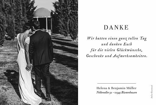 Dankeskarten Hochzeit Sweet moments (lang) weiß - Seite 2