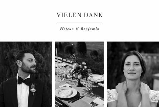 Dankeskarten Hochzeit Sweet moments (5 fotos) weiß