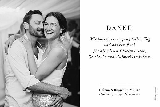 Dankeskarten Hochzeit Sweet moments (5 fotos) weiß - Seite 2