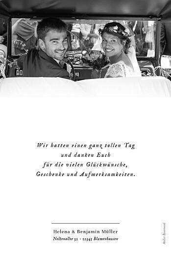 Dankeskarten Hochzeit Sweet moments (hoch) weiß - Seite 2