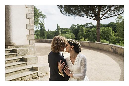 Dankeskarten Hochzeit Bloomy (klappkarte) weiß - Seite 2