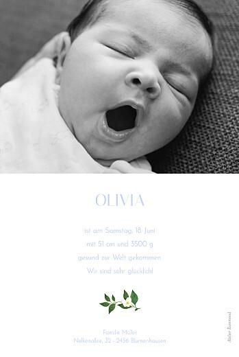 Geburtskarten Blumenbuchstaben grüne und blau - Seite 2
