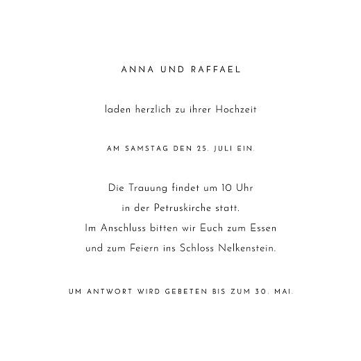 Hochzeitseinladungen Blumenbuchstaben (quadrat) weiß - Seite 3