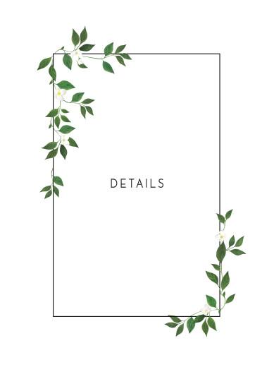 Beilegekarte Blumenbuchstaben weiß