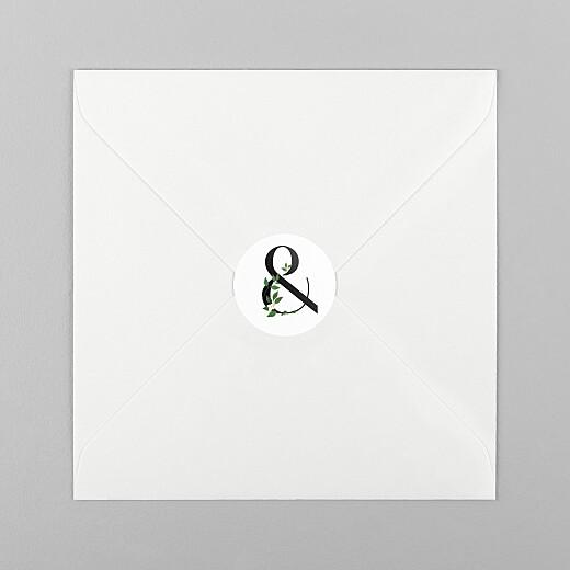 Aufkleber Hochzeit Blumenbuchstaben (et-zeichen) weiß - Ansicht 1