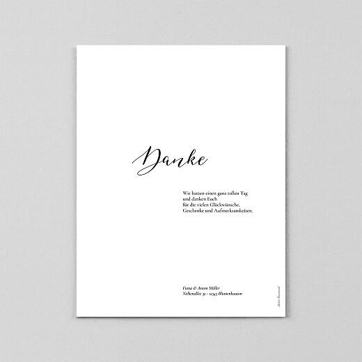Dankeskarten Hochzeit Raffiniert (transparentpapier) weiß - Ansicht 3