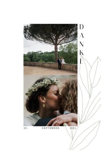 Dankeskarten Hochzeit Frühlingsanfang grün