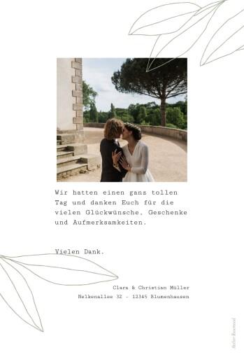 Dankeskarten Hochzeit Frühlingsanfang grün - Seite 2