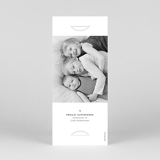 Geburtskarten Familienbande 2 kinder (fotostreifen) weiß - Ansicht 4