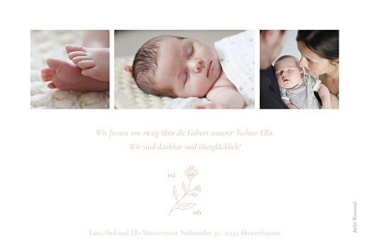 Geburtskarten Lilie rosa - Seite 2