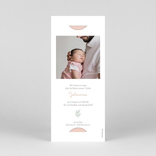 Geburtskarten Liberty blumen (fotostreifen) rosa - Ansicht 4