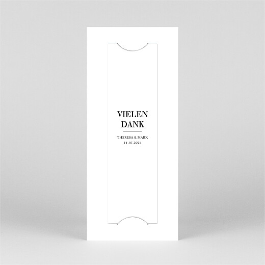 Dankeskarten Hochzeit Stilvoll modern (fotostreifen) weiß - Ansicht 3