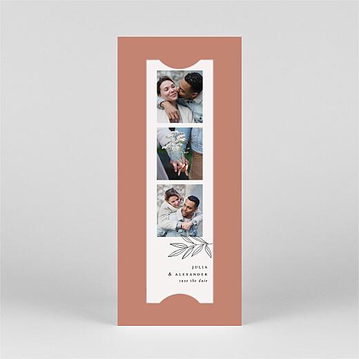 Save-the-Date Karten Zarter ast (fotostreifen) blush - Ansicht 2