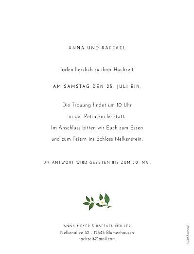 Hochzeitseinladungen Blumenbuchstaben (hoch) weiß - Seite 2