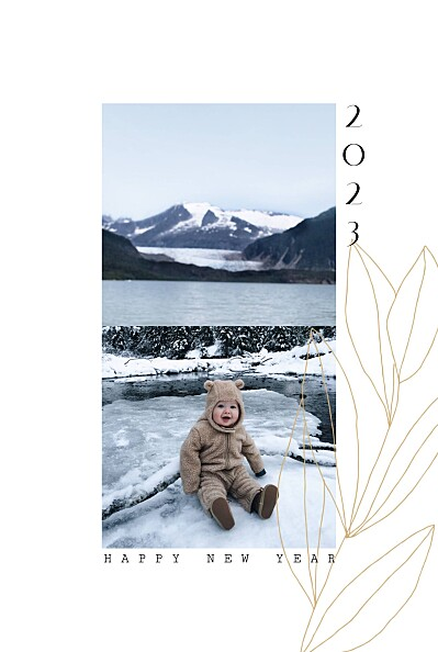 Weihnachtskarten Frühlingsanfang gelb finition