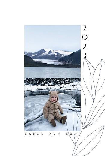 Weihnachtskarten Frühlingsanfang blau