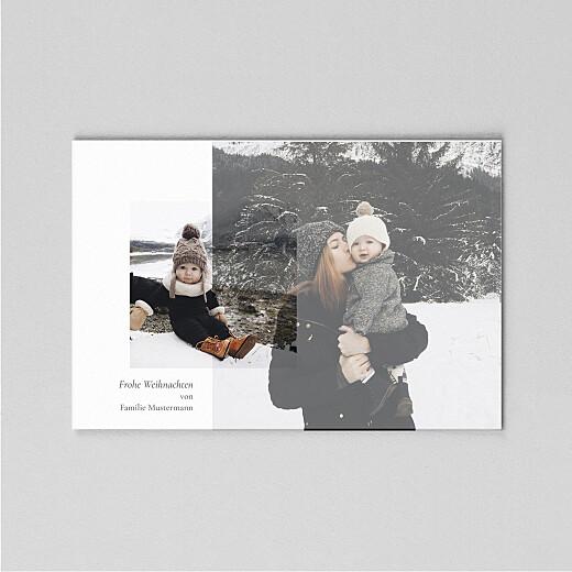 Weihnachtskarten Dezent (transparentpapier) lang weiß - Ansicht 2