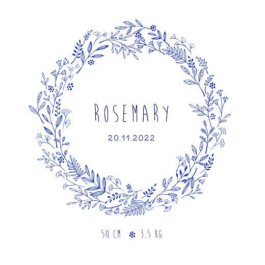 Geburtskarten Wiesenblume (klappkarte) blau