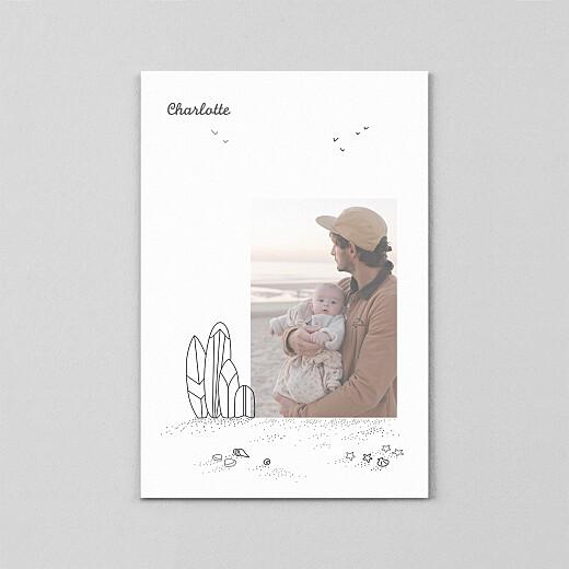 Geburtskarten Strandtag transparentpapier (2 kinder) schwarz - Ansicht 2