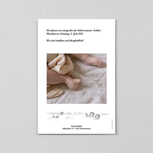 Geburtskarten Strandtag transparentpapier (2 kinder) schwarz - Ansicht 3