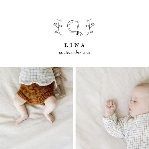 Geburtskarten Gravur (klappkarte) weiß