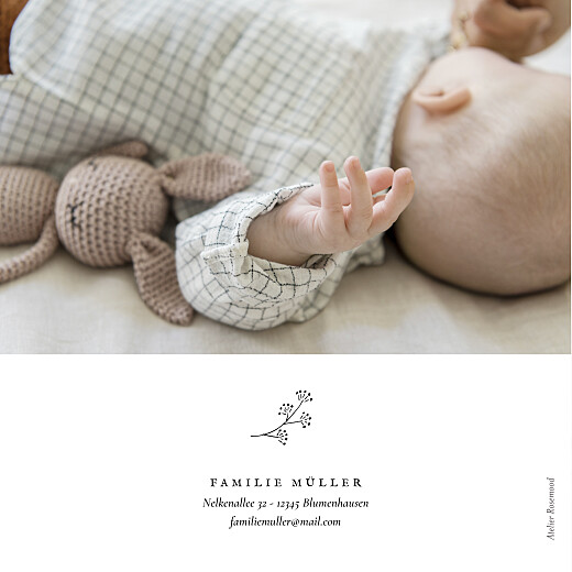Geburtskarten Gravur (klappkarte) weiß - Seite 4