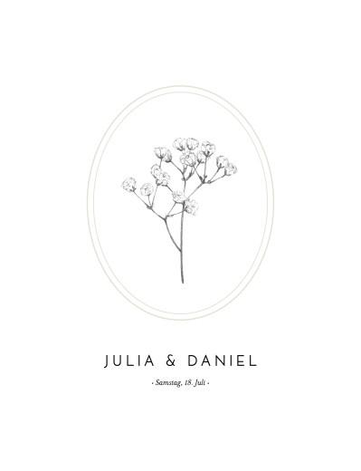 Hochzeitseinladungen Botanik (hoch) beige