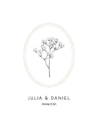 Hochzeitseinladungen Botanik (hoch) beige finition