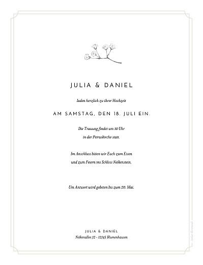 Hochzeitseinladungen Botanik (hoch) beige - Seite 2