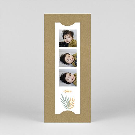 Geburtskarten Palmenzweige (fotostreifen) gelb - Ansicht 2
