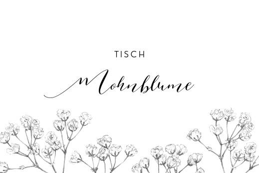 Tischkarten Hochzeit Botanik beige
