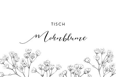 Tischkarten Hochzeit Botanik beige finition