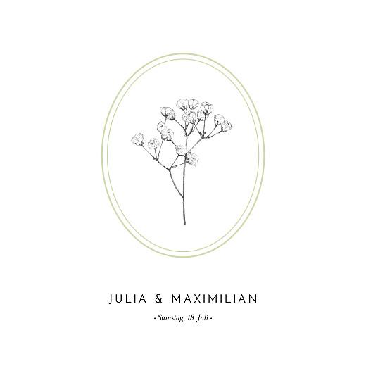 Hochzeitseinladungen Botanik (klappkarte) grün