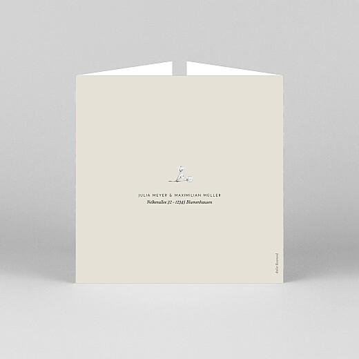Hochzeitseinladungen Botanik (duo) beige - Ansicht 3
