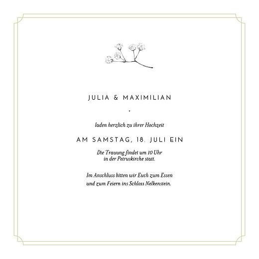 Hochzeitseinladungen Botanik (klappkarte) grün - Seite 3