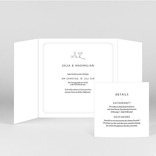 Hochzeitseinladungen Botanik (duo) beige - Ansicht 2