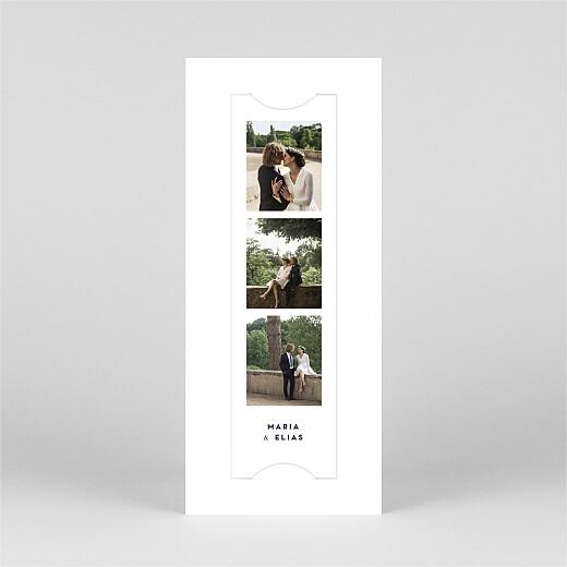 Dankeskarten Hochzeit Swing (fotostreifen) weiß - Ansicht 2