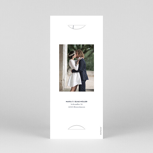 Dankeskarten Hochzeit Swing (fotostreifen) weiß - Ansicht 4