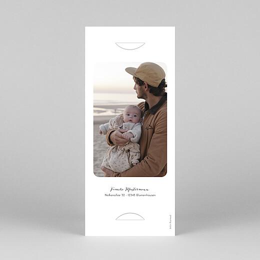 Geburtskarten Raffinesse (fotostreifen) weiß - Ansicht 4