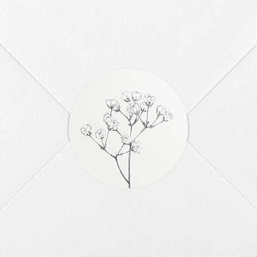 Aufkleber Hochzeit Botanik beige - Ansicht 2