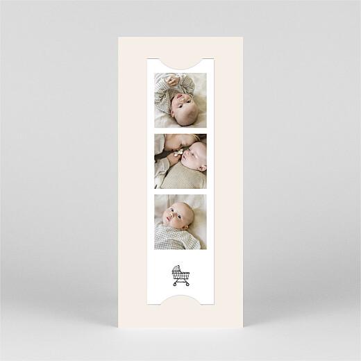 Geburtskarten Deine kleine welt (fotostreifen) weiß - Ansicht 3