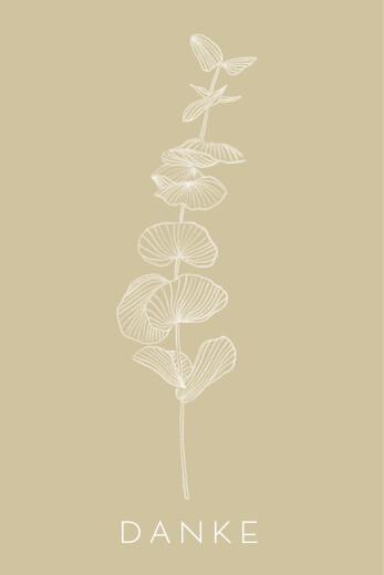 Dankeskarten Eukalyptuszweige beige