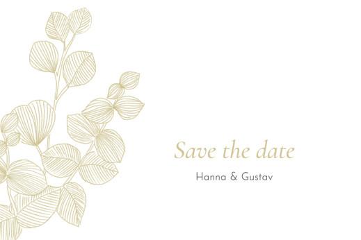 Save-the-Date Karten Eukalyptuszweige beige