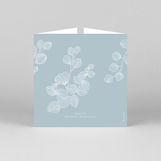 Geburtskarten Eukalyptuszweige (duo) blau - Ansicht 3