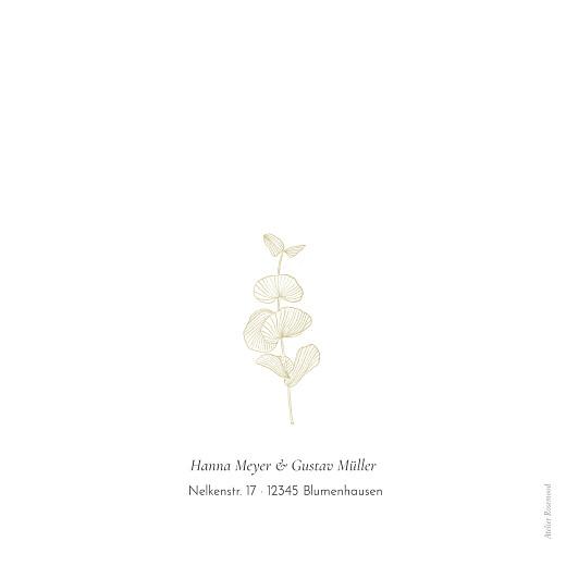 Hochzeitseinladungen Eukalyptuszweige (klappkarte) beige - Seite 4