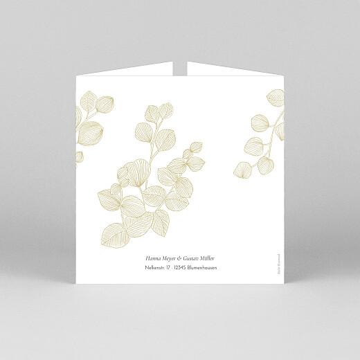 Hochzeitseinladungen Eukalyptuszweige (großes duo) beige - Ansicht 3