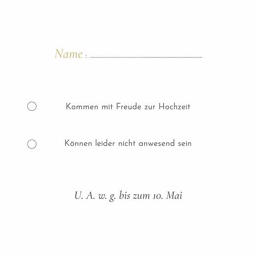 Antwortkarte Hochzeit Eukalyptuszweige beige - Seite 2