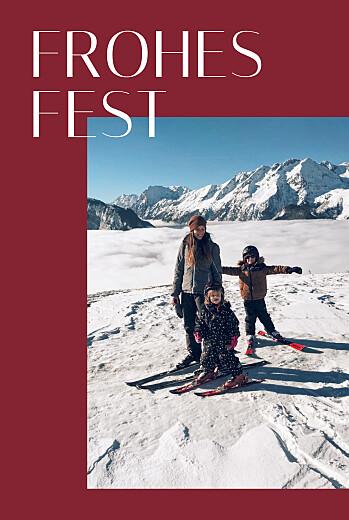 Weihnachtskarten Copenhagen rot